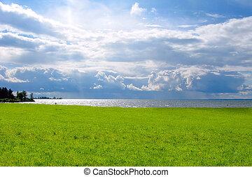summer day landscape