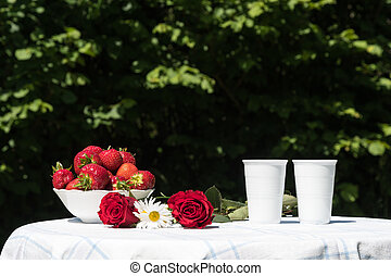 Summer decorated table