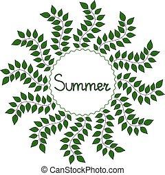 Summer decorative frame, vector illustration