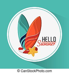 Summer design. vacation concept. Flat illustration