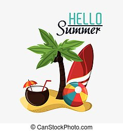 Summer design. Vacation icon. Colorful illustration