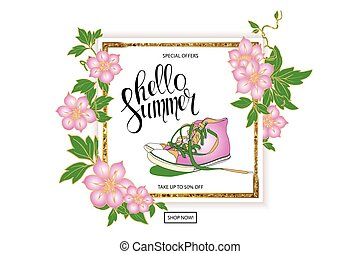 summer discount banner sneakers - Summer trendy sports...
