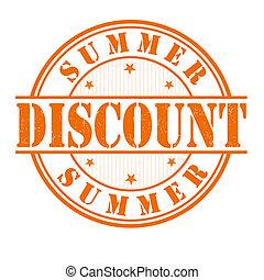 Summer discount stamp
