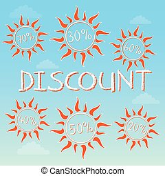 summer discount with percentages,