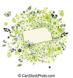 Summer dreams, greeting card