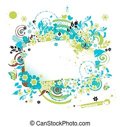 Summer dreams, greeting card