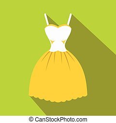 Summer dress icon, flat style