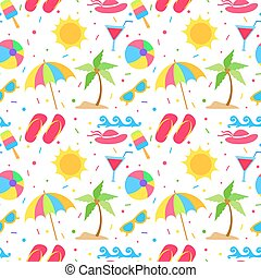 Summer elements seamless pattern