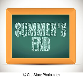 summer end message written on a chalkboard.