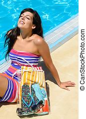 Summer Enjoy Woman