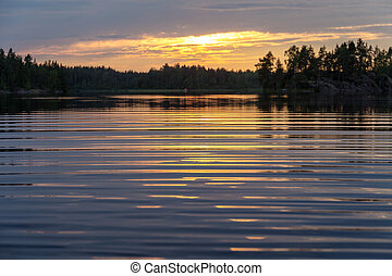 summer evening at the lake