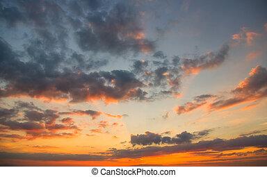 Summer evening sky at sunset
