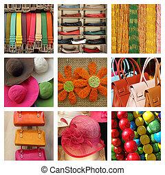 summer fashion collage