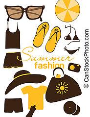 Summer fashion elements