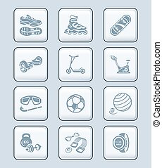 Summer fitness icons    TECH series