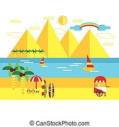 Summer flat style vector illustration
