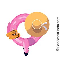 summer float pad isolated icon
