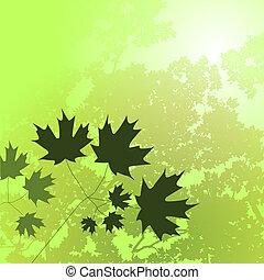 Summer Floral Background Green