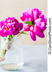 Summer floral concept with peonies