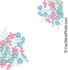 Summer floral decorations - Vector illustration of colorful...