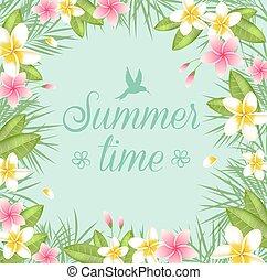 Summer floral frame.