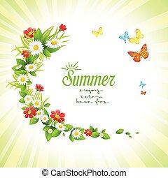 Summer floral frame