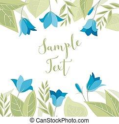 Summer flower campanula - Vector illustration blue...