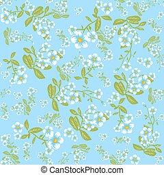 Summer flower on blue background