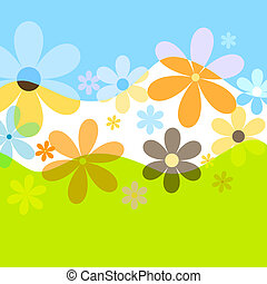 Summer flowers - Flower background