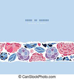 Summer flowers horizontal seamless pattern background