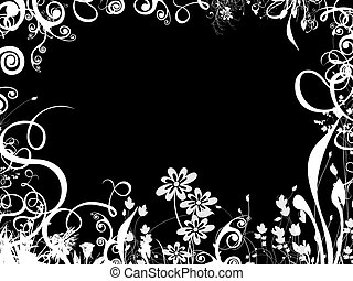 foliage border over black