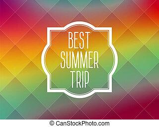 Summer frame card background