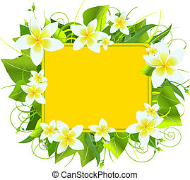 Summer colors adorn background, perfect for greeting cards or retail signage