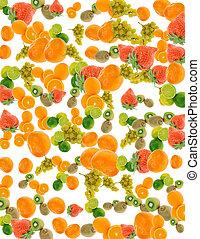 summer fruit background