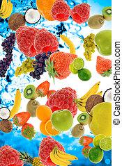 summer fruit - abstract fresh summer fruit concept for...