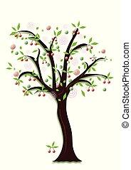 Summer fruit tree.