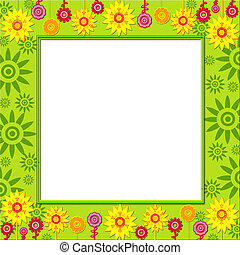 Summer funny cutout frame for photo or text