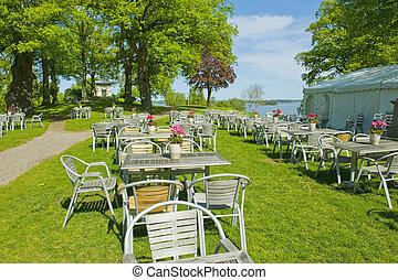 Summer garden cafe
