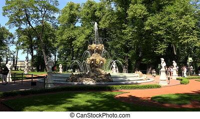 Summer garden. Saint-Petersburg.
