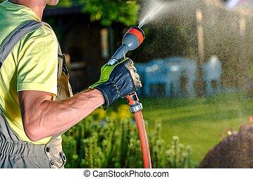 Summer Garden Watering
