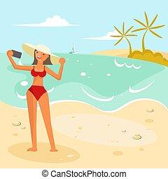 Summer girl in bikini