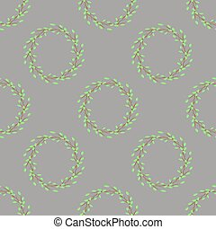 Summer Green Seamless Leaves Pattern