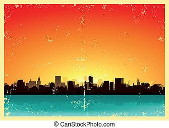 Summer Grunge Urban Landscape