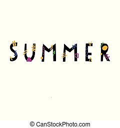 Summer hand drawn lettering.