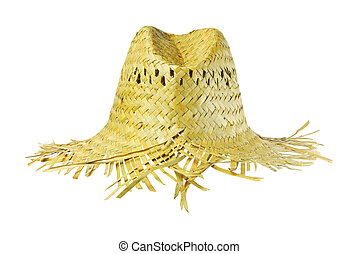 summer Hat - Hat made ??of grass. , To be worn. Fashion...