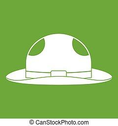 Summer hat icon green