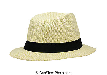 Summer hat isolated on white