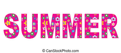 summer header banner - summer flowers header or banner