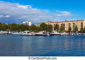 Summer Helsinki cityscape