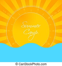 Summer holiday abstract background, energy, relax and spa,